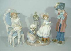 Lladro. Konvolut drei Figuren. H. ca. 32 cm u. kl.Lladro. Lot of three figurines. H. app. 32 cm a.