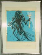 "Salvador Dali (*1904, Figueres, Katalonien - 1989 ebd.). Apostel Judas ""Excalibur"". Aus der Reihe """