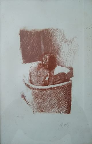 Lot 2 - Pierre Bonnard - The Bath (1925) - Original signed and justified lithograph for [...]
