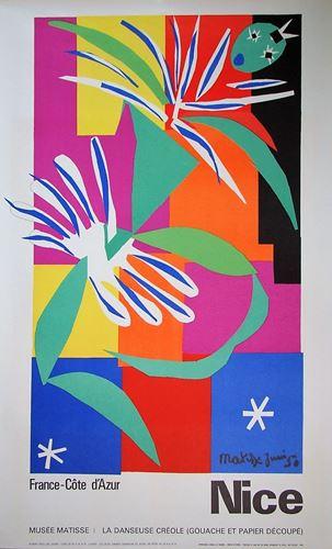 Lot 41 - HENRI MATISSE (after) - Danseuse créole - 1950 - Original exhibition placard, [...]