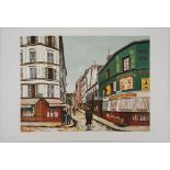 Lot 56 - Maurice UTRILLO (1883 - 1955) (after) - Rue Seveste à Montmartre - Lithograph on [...]