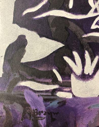 """Lot 37 - Georges Braque - Fondation Marguerite et Aimé Maeght - Lithograph After """"la [...]"""