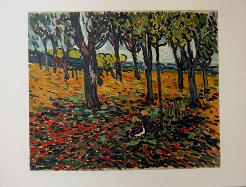 Lot 55 - Maurice de VLAMINCK - La châtaigneraie à Chatou - Lithographie sur papier Vélin [...]