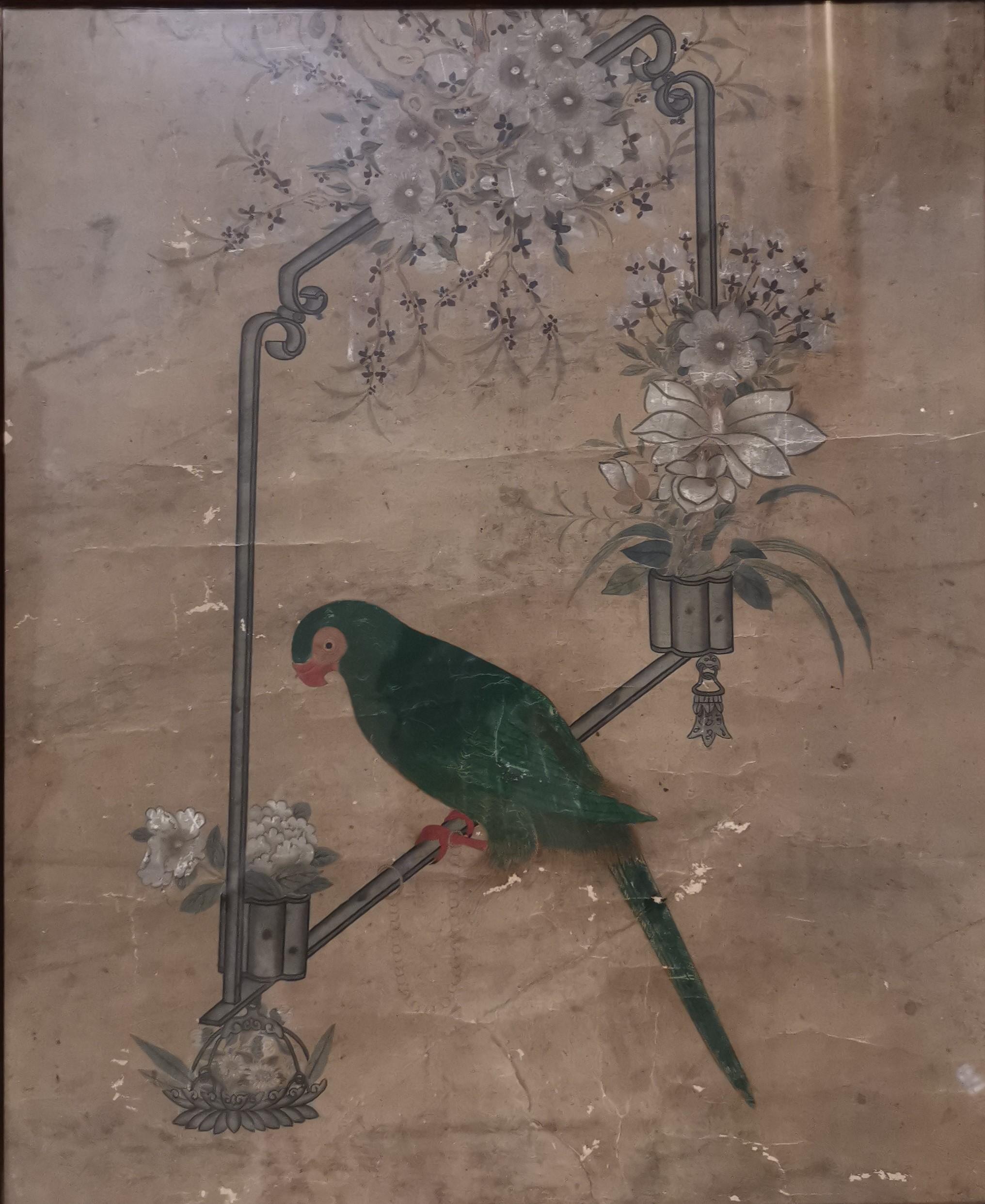 Lot 26 - Peinture à l'encre et couleur sur papier Chine, XVIIIème-XIXème siècle [...]