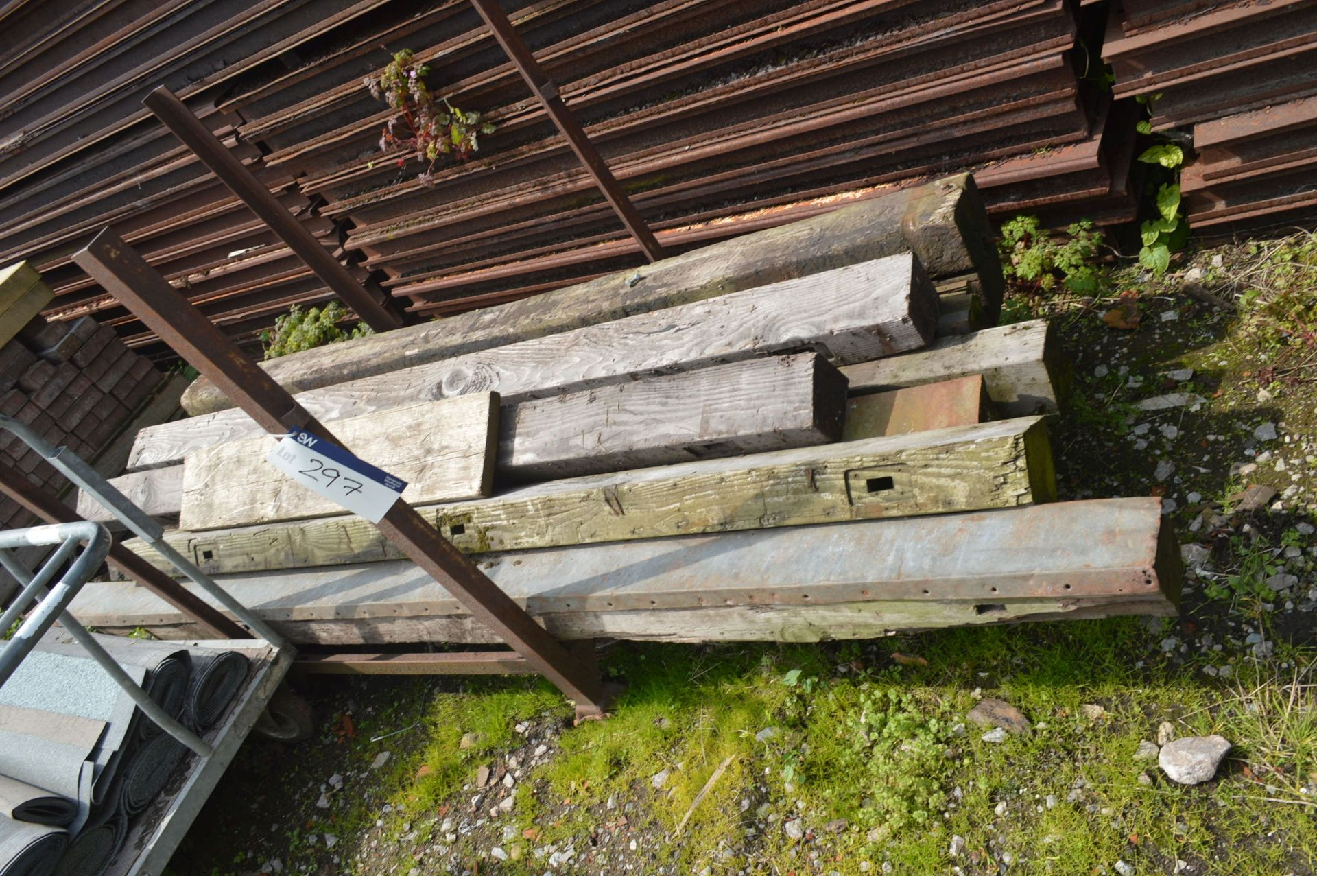 Lot 297 - Timber Beams, with post pallet