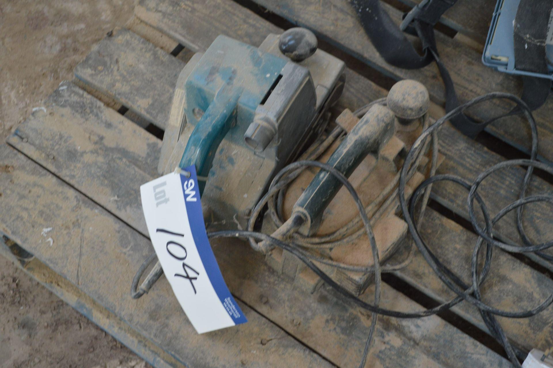 Lot 104 - Portable Electric Belt Sander & Portable Electric Planer, each 240V