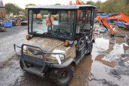 Kubota RTV 1140 CPX 4x4 Diesel Utility Vehicle, registration no. PE13 KHO, date first registered