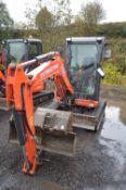 Kubota U27-4 Tracked Mini Excavator, identification no. KBCU0274_KZC65228, year of manufacture 2019,