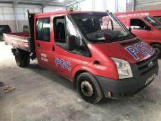 Ford Transit Trend 350 Double Cab Diesel Tipper, registration no. ML12 PZU, date first registered