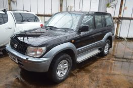 Toyota Landcrusier Diesel SUV, registration no. P610 MWB, date first registered 02/1997, tested to