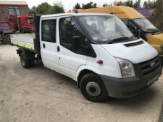 Ford Transit Trend 350 LWB 115 Double Cab Diesel Tipper, registration no. HG12 CZN, date first