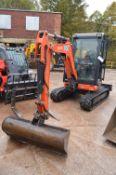 Kubota U27-4 Tracked Mini Excavator, serial no. 62350, year of manufacture 2018, indicated hours 1,