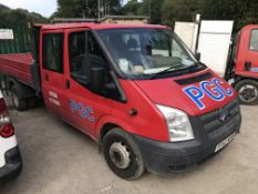 Ford Transit 350L 100 Double Cab Diesel Tipper, registration no. YF62 WHW, date first registered