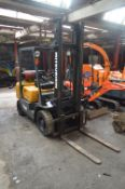 Mitsubishi Premier FG25 LPG Fork Lift Truck, serial no. F17B 54221, indicated hours (to be
