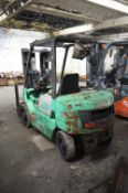 Mitsubishi FD20 Diesel Fork Lift Truck, serial no. EF188-52344, year of manufacture 1997,