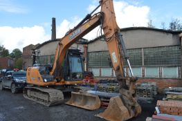 Case CX130C Tracked Excavator, identification no. CH130R6NEE6D1430, year of manufacture 2014,