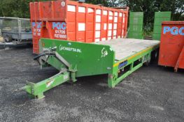 Chieftain TANDEM AXLE FLATBED PLANT TRAILER, serial no. LL3524, identification no.