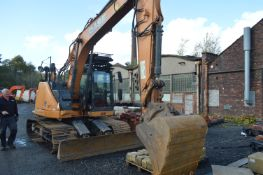 Case CX145C SR Tracked Excavator, identification no. DCH145R6NEE6EL227, year of manufacture 2014,