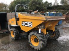 JCB 6TFT Powershuttle 6 Tonne Swivel Dumper, registration no. MD65 GUH, year of manufacture 2015,