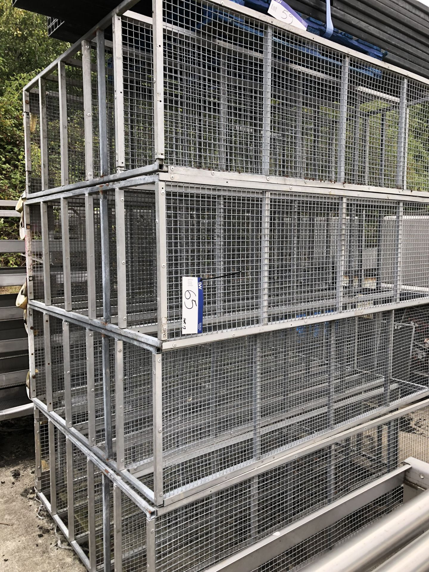 Lotto 65 - Four Mobile Six Tier Racks, approx. 2.1m x 0.6m x 1.5m high, lift out charge - £40