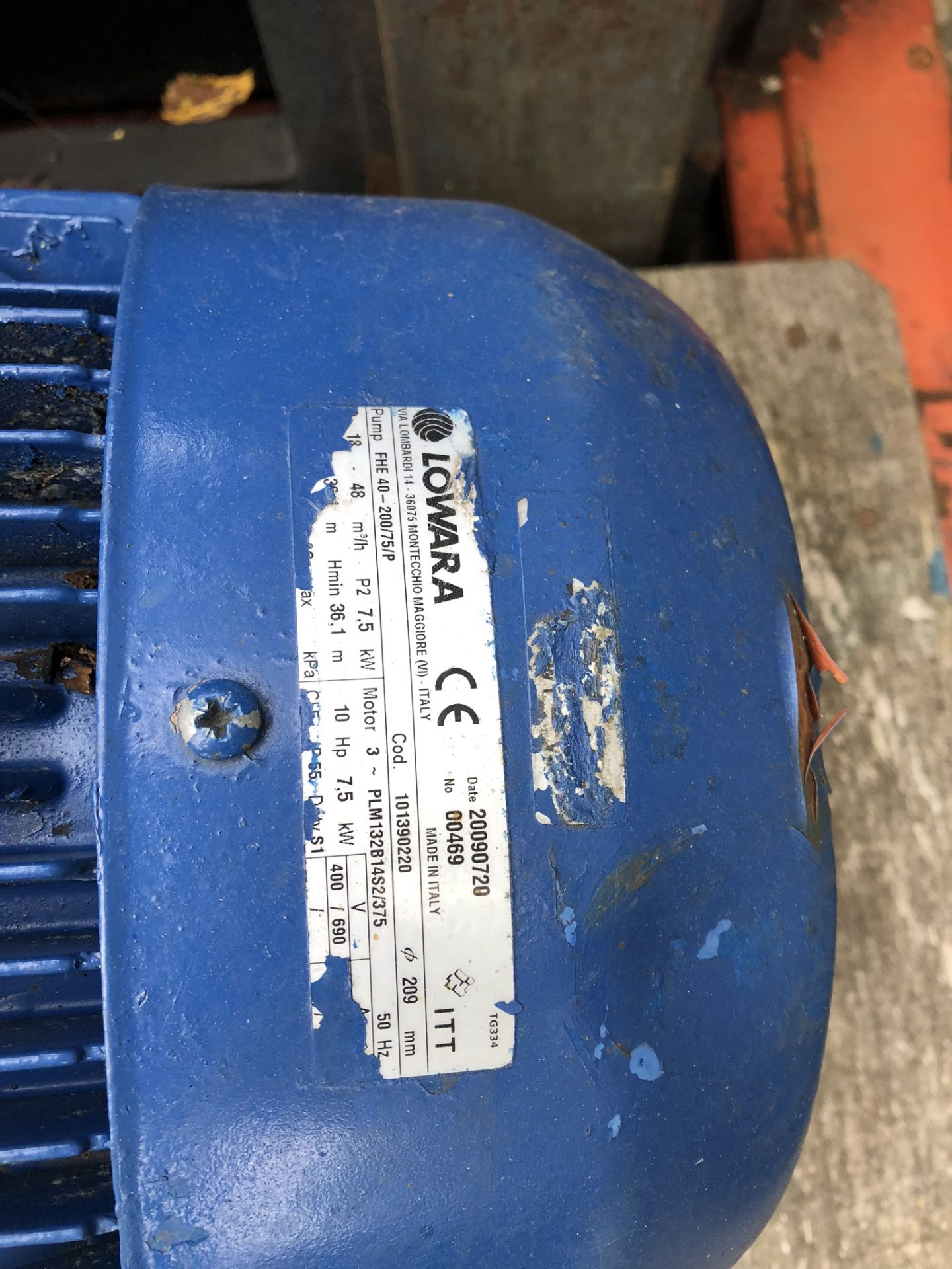 Lotto 144 - Lowera FHE40-200-75-P Pump, lift out charge - £10