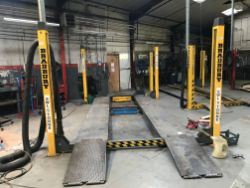 TWO DAY SALE Modern Garage Workshop and Bodyshop Eqpt, Large Qty of Parts and Consumables Stock, Showroom and Office Furnishings & Eqpt