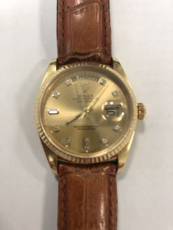 Rolex Oyster Perpetual Day Date Wrist Watch c.1984, 18ct Yellow Gold