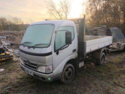 Tipper Truck, Mini Excavator, Sundry Equipment and Residual Stocks of Builders Materials