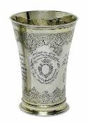 BecherAugsburg, 1743 - 1745, Johann III Mittnacht Silber, teilvergoldet. Konisch ausschwingender