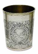 BecherAugsburg, 1692 - 1697, Michael Hueter Silber, teilvergoldet. Konischer Becher mit profiliertem