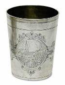 BecherNürnberg, 1674 - 1680/81, Hermann Lang Silber, innen Reste von Vergoldung. Konischer Becher