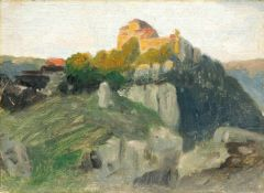 "August Karl Martin Splitgerber ""Burg Pappenheim"" (Mittelfranken). Spätes 19. Jh.August Karl Martin"