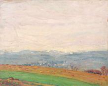 """Richard Dreher """"Vorfrühling"""" (Landschaft bei Rockau?). 1910.Richard Dreher 1875 Dresden – 1932"""