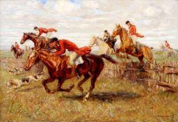 Carl Ritter von Dombrowski, Englische Parforcejagd. Anfang 20. Jh.Carl Ritter von Dombrowski 1872