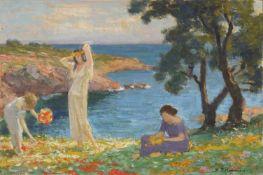 Max Pietschmann, Sommer am Meer. Um 1930.Max Pietschmann 1865 Dresden – 1952 ebendaÖl auf