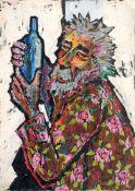 Alice Brasse-Forstmann, Alter Hippie - Liebauer Bauer. 1980er Jahre.Alice Brasse-Forstmann 1903