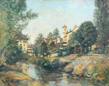 Richard Dreher, Ansicht von Leitmeritz (Litomerice). 1929.Richard Dreher 1875 Dresden – 1932