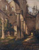 Carl Wagner (zugeschr.), Ruine der Klosterkirche Paulinzella. Wohl um 1830-1860.Carl Wagner 1796