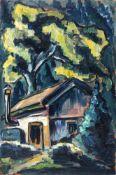 Walter Dexel, Ohne Titel (Haus unter Bäumen). Um 1913.Walter Dexel 1890 München – 1973