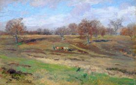 Hans Richard von Volkmann, Hallenser Landschaft in Willingshausen. 1895.Hans Richard von Volkmann