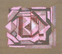 "Christa Engler-Feldmann ""Komposition Rot-Grün"". 1980er Jahre.Christa Engler-Feldmann 1926 Chemnitz –"