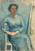 Richard Dreher, Porträt der Frau des Künstlers (Maria Dreher). Um 1920.Richard Dreher 1875 Dresden –
