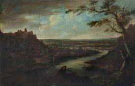 Johann Alexander Thiele, Pirna – Blick auf den Sonnenstein. Um 1720.Johann Alexander Thiele 1685