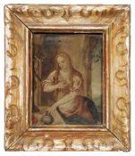 Prager Schule, Maria Magdalena. 1. H. 17. Jh.Öl auf Kupfer. Unsigniert. In einem barocken Rahmen mit