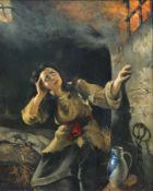 Otto Goldmann, Bedrohliche Flammen. 1881.Otto Goldmann 1844 Berlin – 1920 Berlin-SteglitzÖl auf