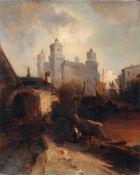 Franz Emil Krause, Hafenstadt mit Schlossanlage. 2. H. 19. Jh.Franz Emil Krause um 1836 Berlin-