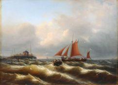 """zurückgezogenJohann Baptist Weiss (Wyss) """"Marine"""". Mid 19th cent.Johann Baptist Weiss (Wyss) 1812"""