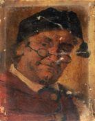 William Hal Gray (zugeschr. / Umkreis), Mann mit Zipfelmütze und Brille. 1. H. 19. Jh.William Hal