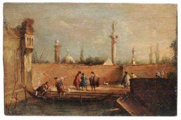Giacomo Guardi (in der Art von), Venezianisches Capriccio. 1. Viertel 19. Jh.Giacomo Guardi 1764