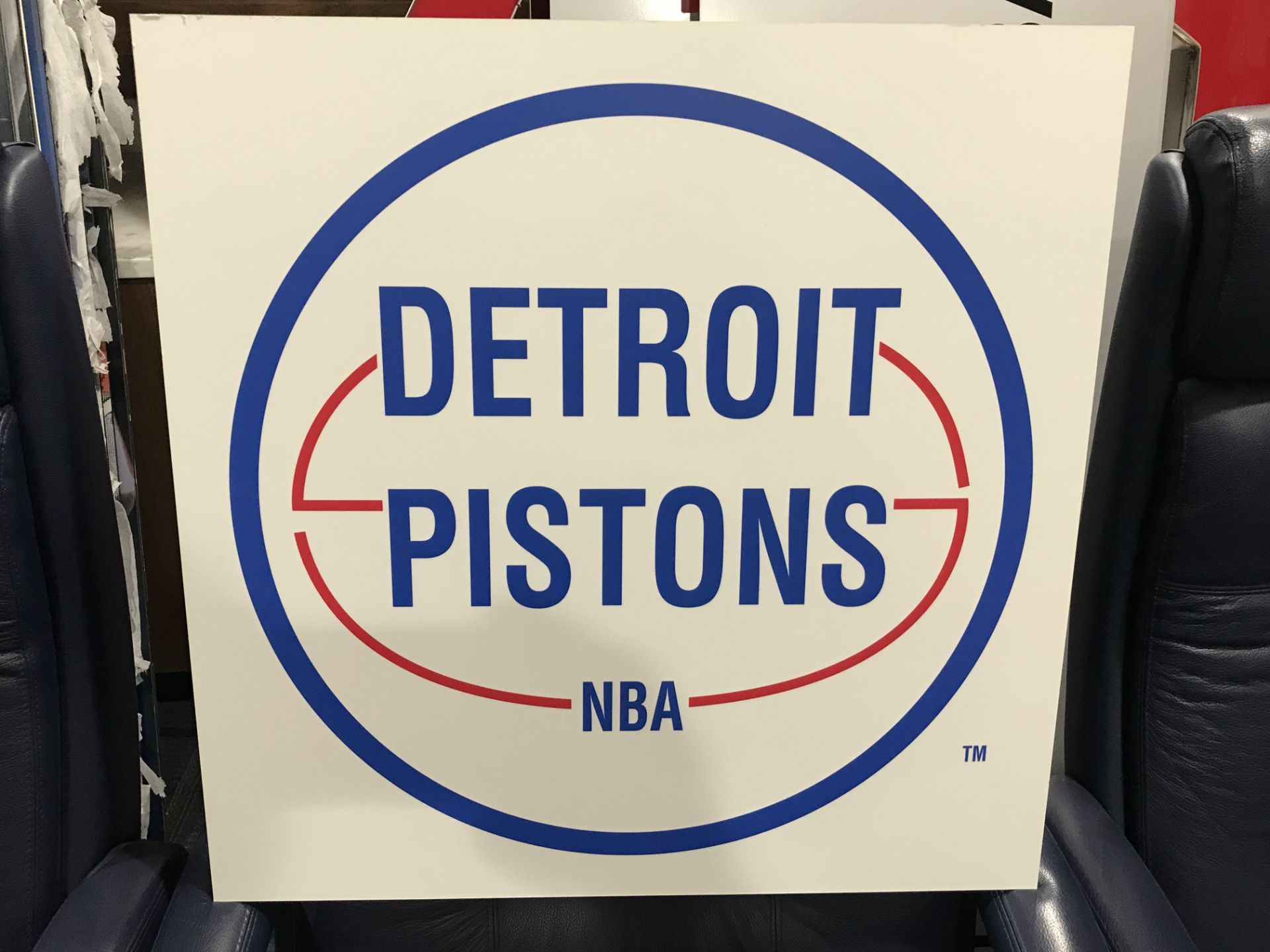 Lot 18F - Vintage Pistons Sign , Dim. 24 in x 24 in , Location: Suite ***Note from Auctioneer***This lot
